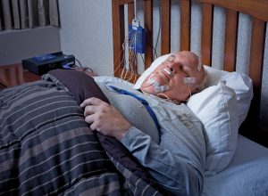 Patient during Polysomnography